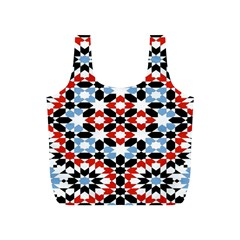 Oriental Star Plaid Triangle Red Black Blue White Full Print Recycle Bags (s)  by Alisyart