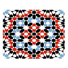 Oriental Star Plaid Triangle Red Black Blue White Double Sided Flano Blanket (large)  by Alisyart
