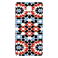 Oriental Star Plaid Triangle Red Black Blue White Galaxy Note 4 Back Case by Alisyart
