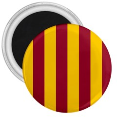 Red Yellow Flag 3  Magnets by Alisyart