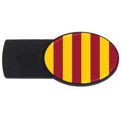Red Yellow Flag Usb Flash Drive Oval (4 Gb) by Alisyart