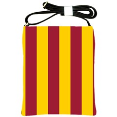 Red Yellow Flag Shoulder Sling Bags by Alisyart