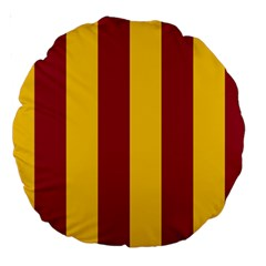 Red Yellow Flag Large 18  Premium Round Cushions by Alisyart