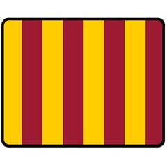 Red Yellow Flag Double Sided Fleece Blanket (medium)  by Alisyart