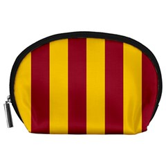 Red Yellow Flag Accessory Pouches (large)  by Alisyart