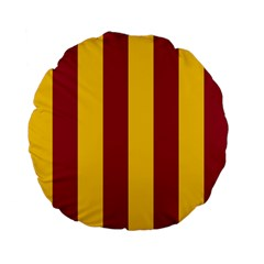 Red Yellow Flag Standard 15  Premium Flano Round Cushions by Alisyart