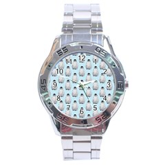 Penguin Animals Ice Snow Blue Cool Stainless Steel Analogue Watch by Alisyart