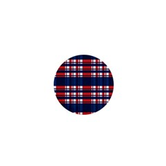 Plaid Red White Blue 1  Mini Buttons by Alisyart