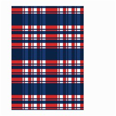 Plaid Red White Blue Small Garden Flag (two Sides) by Alisyart