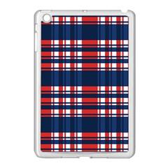 Plaid Red White Blue Apple Ipad Mini Case (white) by Alisyart