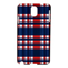 Plaid Red White Blue Samsung Galaxy Note 3 N9005 Hardshell Case by Alisyart