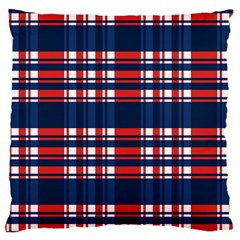 Plaid Red White Blue Standard Flano Cushion Case (one Side) by Alisyart