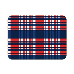 Plaid Red White Blue Double Sided Flano Blanket (mini)  by Alisyart