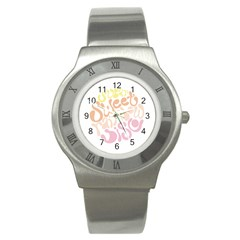 Sugar Sweet Rainbow Stainless Steel Watch by Alisyart