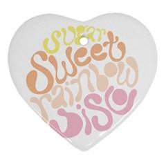 Sugar Sweet Rainbow Heart Ornament (two Sides) by Alisyart