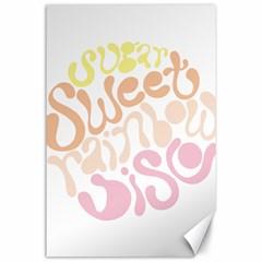 Sugar Sweet Rainbow Canvas 24  X 36  by Alisyart