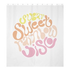 Sugar Sweet Rainbow Shower Curtain 66  X 72  (large)  by Alisyart