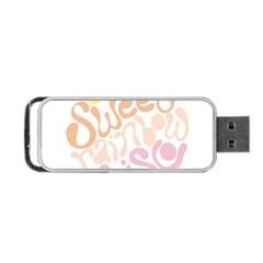 Sugar Sweet Rainbow Portable Usb Flash (two Sides) by Alisyart