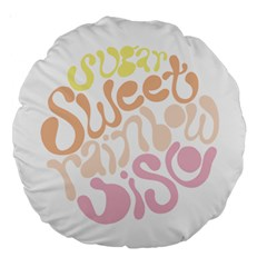 Sugar Sweet Rainbow Large 18  Premium Round Cushions by Alisyart