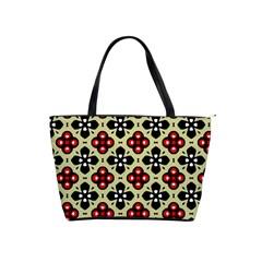 Seamless Floral Flower Star Red Black Grey Shoulder Handbags by Alisyart