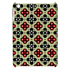 Seamless Floral Flower Star Red Black Grey Apple Ipad Mini Hardshell Case by Alisyart