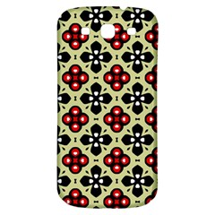 Seamless Floral Flower Star Red Black Grey Samsung Galaxy S3 S Iii Classic Hardshell Back Case by Alisyart