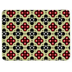 Seamless Floral Flower Star Red Black Grey Samsung Galaxy Tab 7  P1000 Flip Case by Alisyart