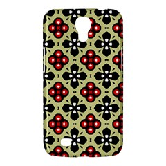Seamless Floral Flower Star Red Black Grey Samsung Galaxy Mega 6 3  I9200 Hardshell Case by Alisyart