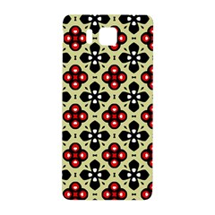 Seamless Floral Flower Star Red Black Grey Samsung Galaxy Alpha Hardshell Back Case by Alisyart