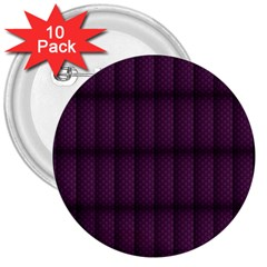 Plaid Purple 3  Buttons (10 Pack)