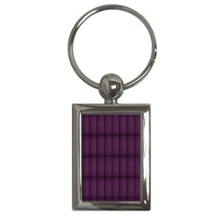 Plaid Purple Key Chains (rectangle)  by Alisyart