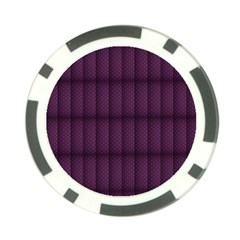 Plaid Purple Poker Chip Card Guard (10 Pack) by Alisyart