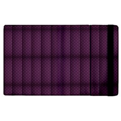 Plaid Purple Apple Ipad 2 Flip Case by Alisyart