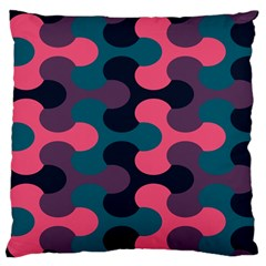 Symmetry Celtic Knots Contemporary Fabric Puzzel Standard Flano Cushion Case (two Sides) by Alisyart