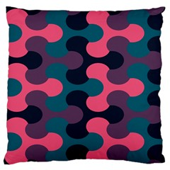 Symmetry Celtic Knots Contemporary Fabric Puzzel Large Flano Cushion Case (one Side) by Alisyart