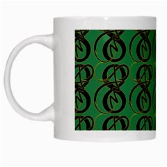Abstract Pattern Graphic Lines White Mugs by Amaryn4rt