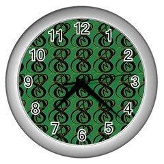 Abstract Pattern Graphic Lines Wall Clocks (silver)  by Amaryn4rt