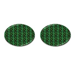 Abstract Pattern Graphic Lines Cufflinks (oval) by Amaryn4rt