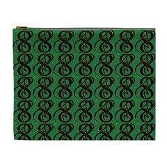 Abstract Pattern Graphic Lines Cosmetic Bag (xl) by Amaryn4rt