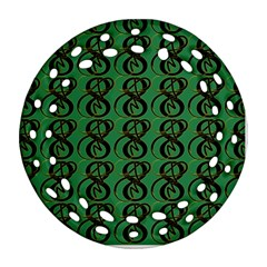 Abstract Pattern Graphic Lines Ornament (round Filigree) by Amaryn4rt
