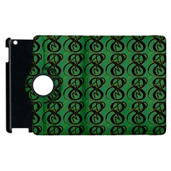 Abstract Pattern Graphic Lines Apple Ipad 2 Flip 360 Case by Amaryn4rt