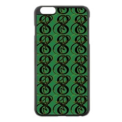 Abstract Pattern Graphic Lines Apple Iphone 6 Plus/6s Plus Black Enamel Case by Amaryn4rt