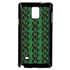 Abstract Pattern Graphic Lines Samsung Galaxy Note 4 Case (black) by Amaryn4rt