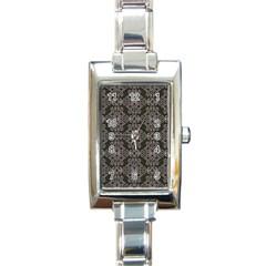 Line Geometry Pattern Geometric Rectangle Italian Charm Watch by Amaryn4rt