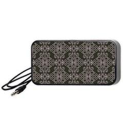 Line Geometry Pattern Geometric Portable Speaker (black) by Amaryn4rt