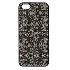 Line Geometry Pattern Geometric Apple Iphone 5 Seamless Case (black) by Amaryn4rt