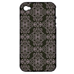 Line Geometry Pattern Geometric Apple Iphone 4/4s Hardshell Case (pc+silicone) by Amaryn4rt