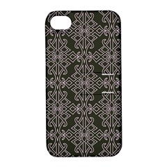 Line Geometry Pattern Geometric Apple Iphone 4/4s Hardshell Case With Stand by Amaryn4rt