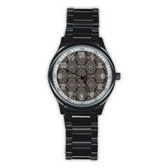 Line Geometry Pattern Geometric Stainless Steel Round Watch by Amaryn4rt