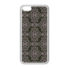 Line Geometry Pattern Geometric Apple Iphone 5c Seamless Case (white) by Amaryn4rt